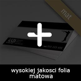 wizytówki foliowane