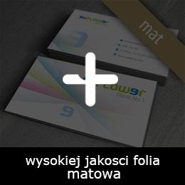wizytówki soft-touch