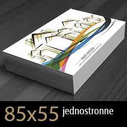 wizytówki jednostronne 85x55