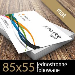 wizytówki eurostandard foliowane